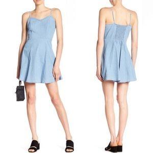 Cotton On Krissy V-Neck Chamray Mini Dress XS